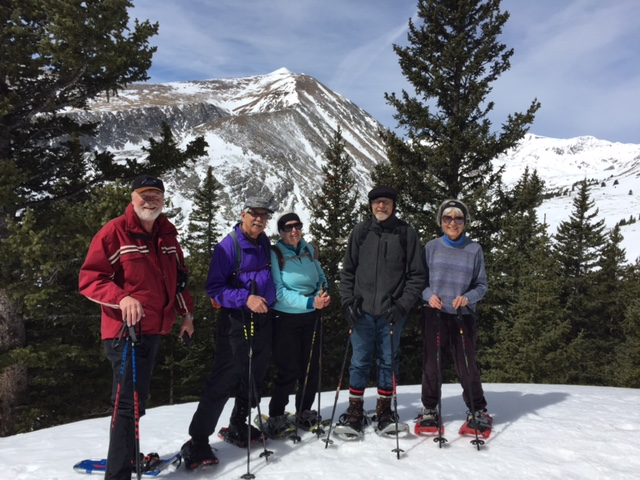 Son Seekers snowshoeing