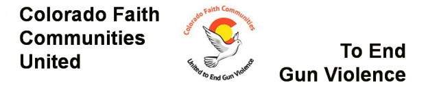 Logo and link to Colorado Faith Communities United to End Gun Violence website